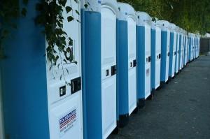 Toalety na festivale