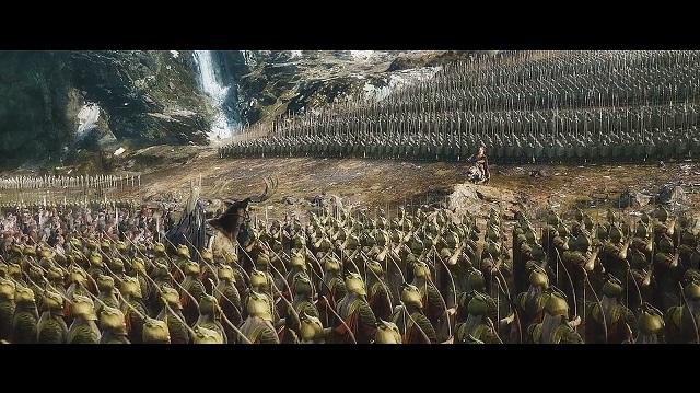 Posedný Hobit - trpaslíci proti elfom